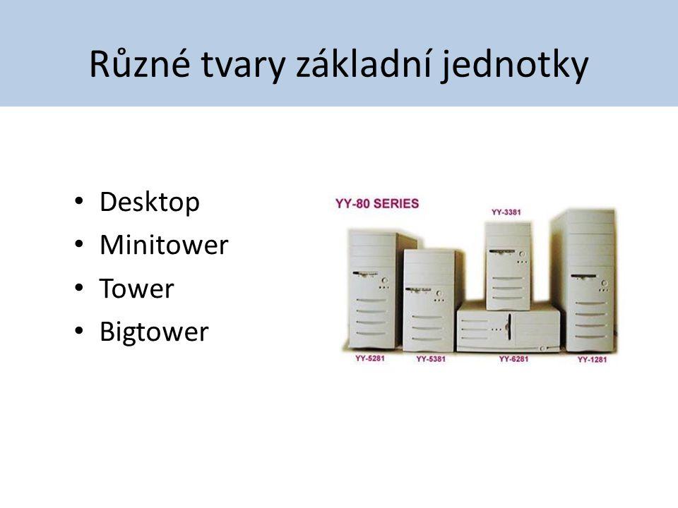 Různé tvary základní jednotky Desktop Minitower Tower Bigtower