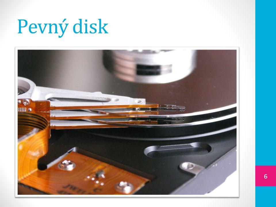 Dělení pevných disků  interní  je zabudovaný v PC  jsou na něm uložena všechny programy a data, která používáme  externí  připojují se k počítači přes USB nebo eSATA  slouží obvykle k zálohování a ukládání velkého množství dat 7