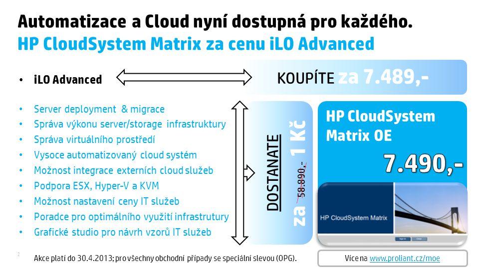 2 KOUPÍTE za 7.489,- Automatizace a Cloud nyní dostupná pro každého.