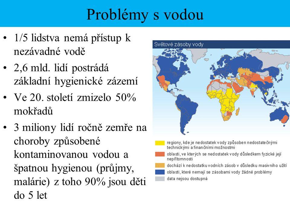Osobní potřeba vody Hygienické minimum je 100 litrů/den V ČR je spotřeba 120 l/den, USA 300 l/den, některé africké země jen 10-20 l/den Spotřeba vody Při výrobě: 1 kg oceli 200 l, 1 kg hovězího masa 13 000 l, 1 kg papíru 300 l Domácnost: spláchnutí WC 12 l, koupel ve vaně 120 l, sprchování 70 l, mytí v myčce 20 l, praní v pračce 40-80 l, mytí roukou 3 l, mytí auta 200 l (plýtvání vodou: kapající kohoutek 4 l/h, netěsnící WC 80 l/h)