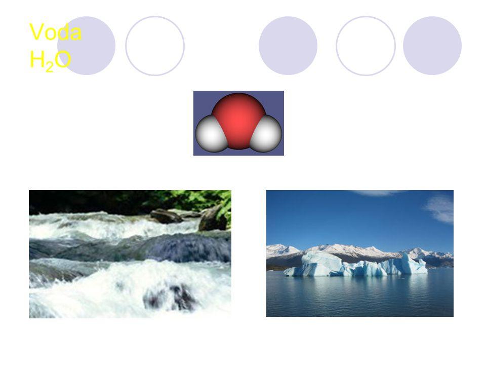 Výskyt 3 skupenství Téměř ¾ povrchu Země … 97,2% slaná Lidské tělo … 50-72%, denní spotřeba 2- 3 litry Nejvýznamnější biogenní sloučenina
