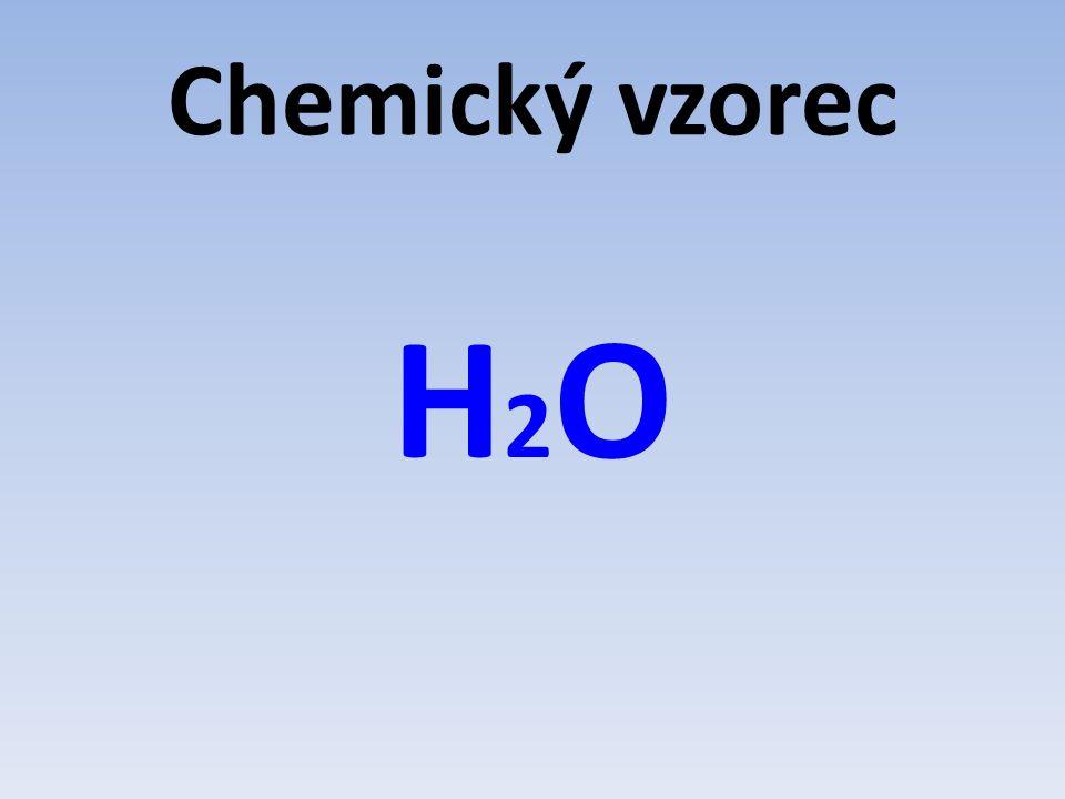 Chemický vzorec H2OH2O