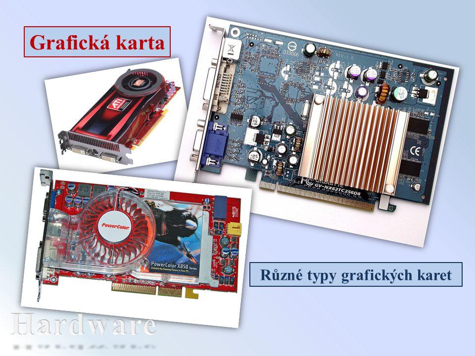 Grafická karta Různé typy grafických karet