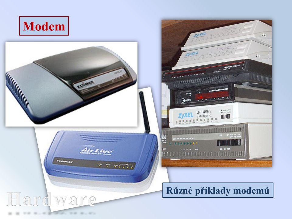 Modem Různé příklady modemů