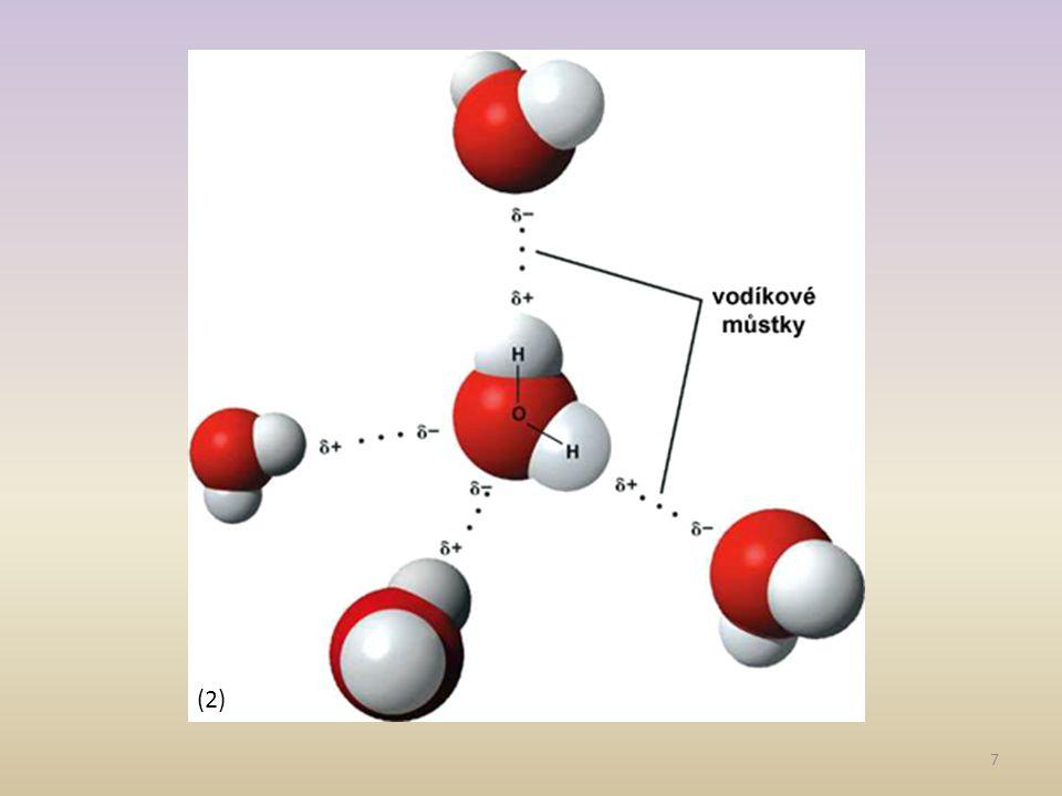 Chemické vlastnosti vody -patří mezi nejstálejší sloučeniny -s kovy I.A a II.A reaguje bouřlivě za vzniku vodíku a příslušného hydroxidu -má korozivní účinky -je významnou amfiprotní látkou -na základě autoprotolýzy vody odvozujeme pH 8