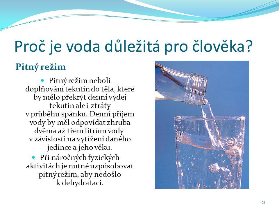 Proč je voda důležitá pro člověka.