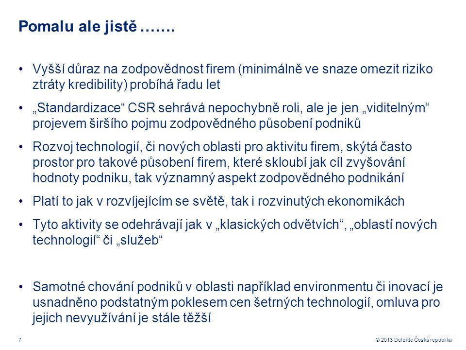 7© 2013 Deloitte Česká republika Pomalu ale jistě …….