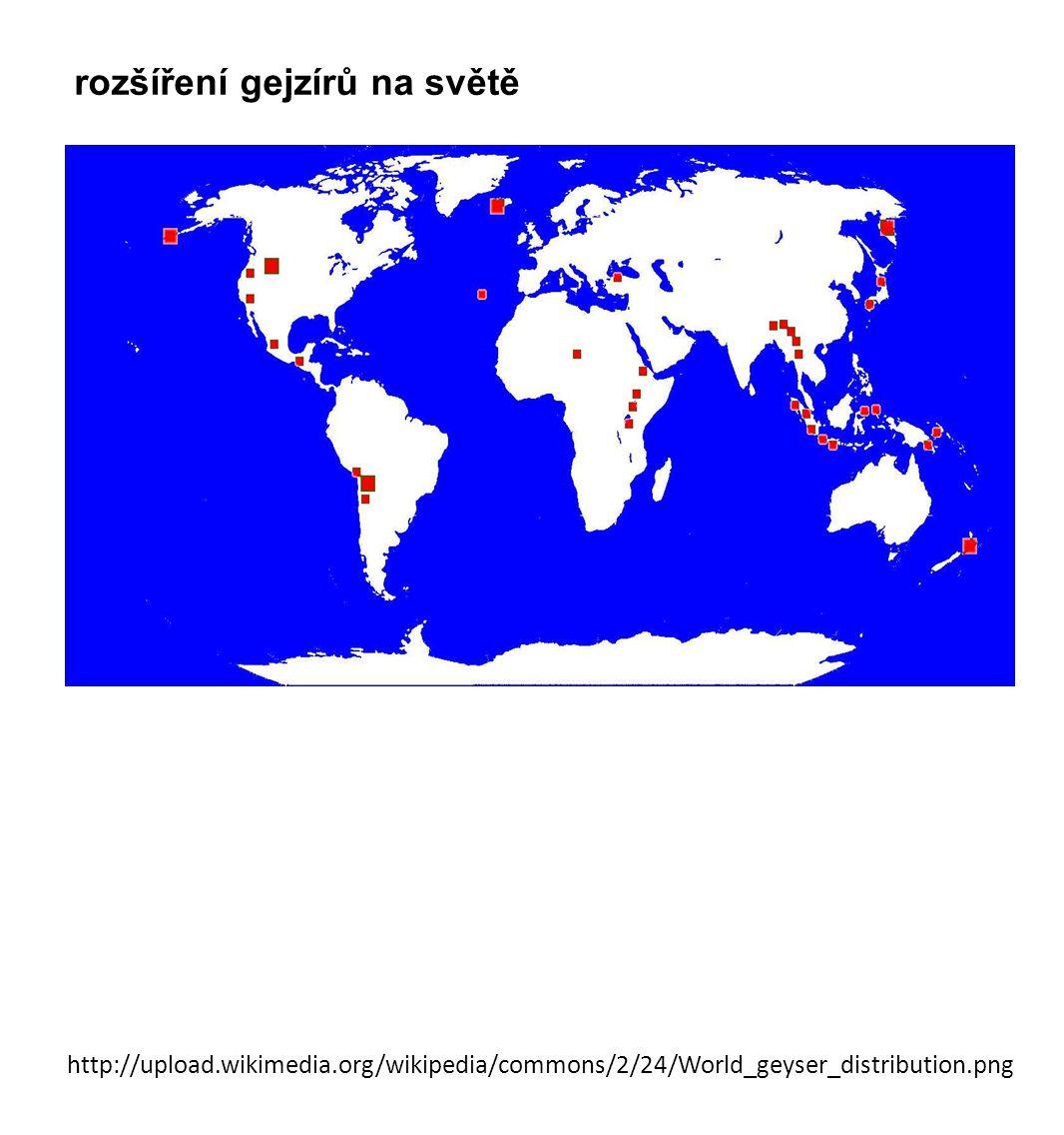 http://upload.wikimedia.org/wikipedia/commons/2/24/World_geyser_distribution.png rozšíření gejzírů na světě