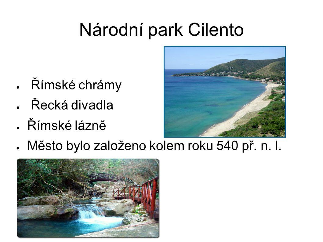 Národní park Cilento ● Římské chrámy ● Řecká divadla ● Římské lázně ● Město bylo založeno kolem roku 540 př. n. l.