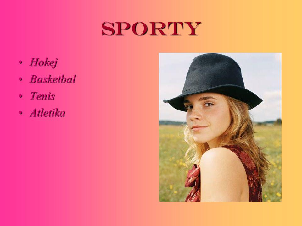 Sporty HokejHokej BasketbalBasketbal TenisTenis AtletikaAtletika