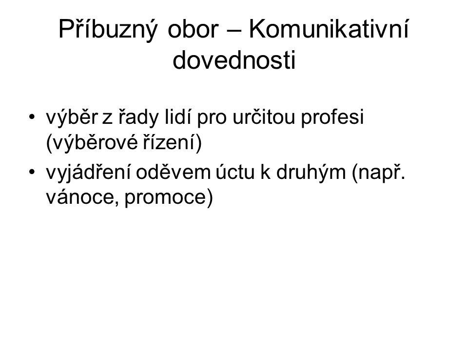 Literatura, zdroje Kaiser S., The Social Psychology of Clothing http://www.tes.kvalitne.cz/ Friedmann Shulz von Thun - Jak spolu komunikujeme Praha : Grada, 2005