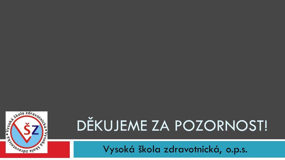 Vysoká škola zdravotnická, o.p.s. DĚKUJEME ZA POZORNOST!