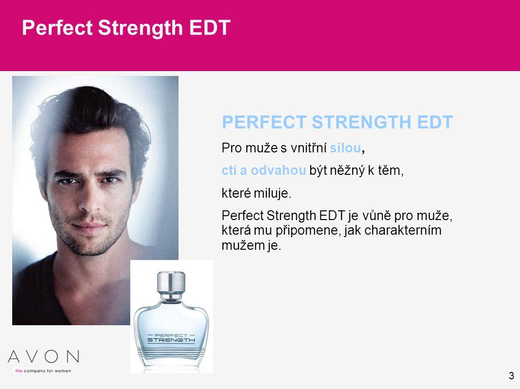 3 PERFECT STRENGTH EDT Pro muže s vnitřní silou, ctí a odvahou být něžný k těm, které miluje.