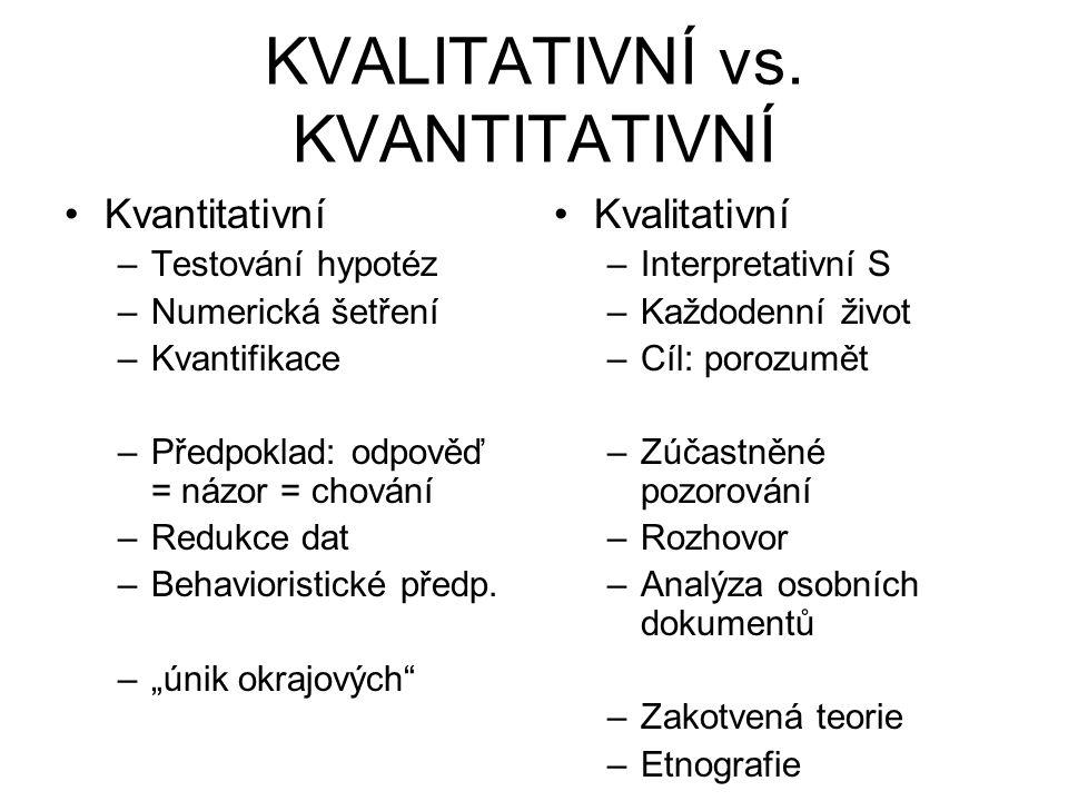 KVALITATIVNÍ vs.