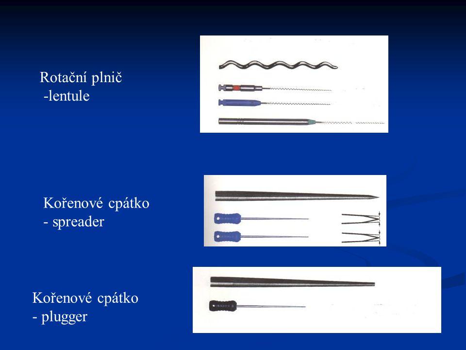 Použití lentule Nanášení plastických kořenových výplní.