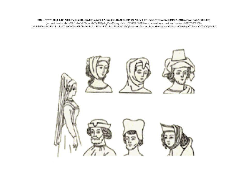 ŽENY Svobodné dívky nosily vlasy rozpuštěné Vdané ženy podle vlivu křesťanství si vlasy sčesávaly pod čepec, šátek, závoj, roušky