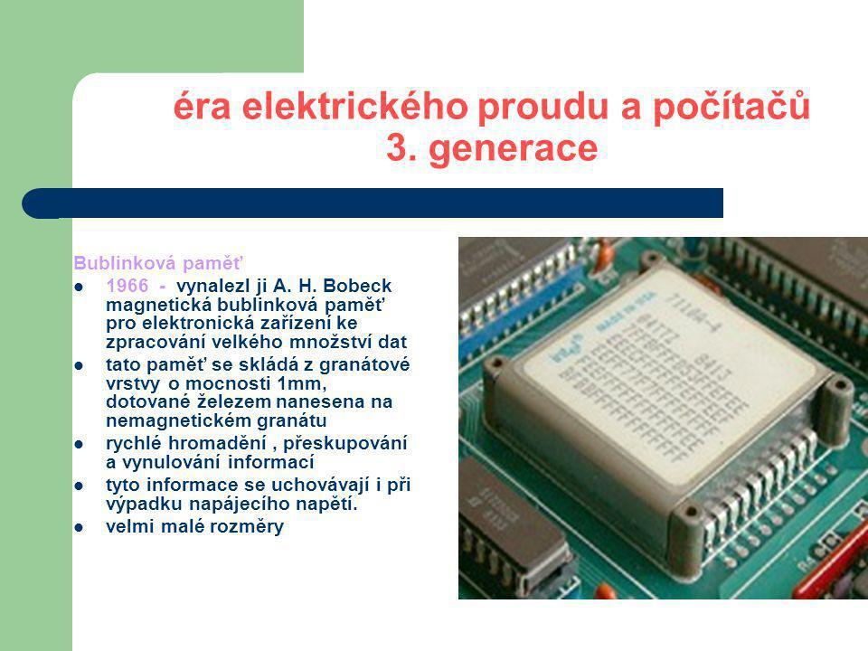 éra elektrického proudu a počítačů 4.generace 80.