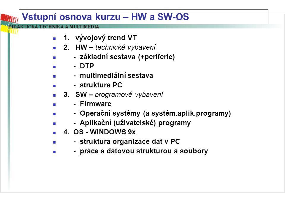 1.vývojový trend VT 2.