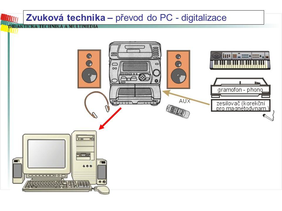 Propojovací konektory – digital/analog (detail)