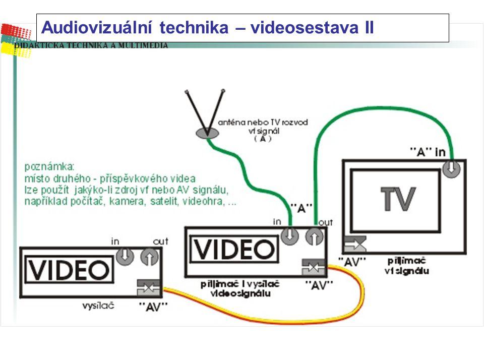 Audiovizuální technika – videosestava I