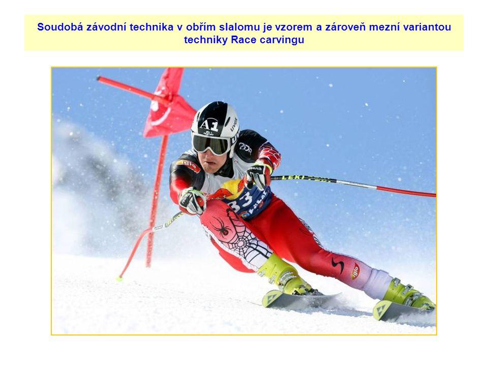 Soudobá závodní technika v obřím slalomu je vzorem a zároveň mezní variantou techniky Race carvingu