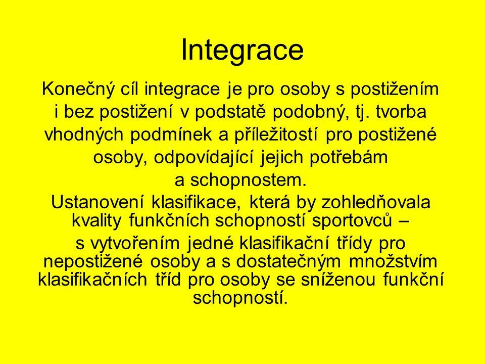 Integrace Konečný cíl integrace je pro osoby s postižením i bez postižení v podstatě podobný, tj.