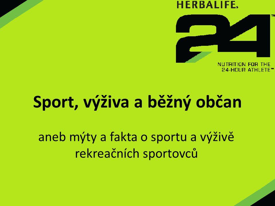 Sport, výživa a běžný občan aneb mýty a fakta o sportu a výživě rekreačních sportovců