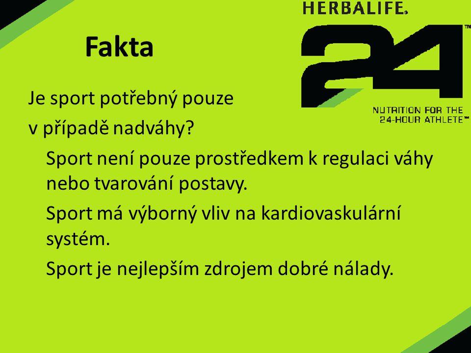 Je sport potřebný pouze v případě nadváhy? Sport není pouze prostředkem k regulaci váhy nebo tvarování postavy. Sport má výborný vliv na kardiovaskulá