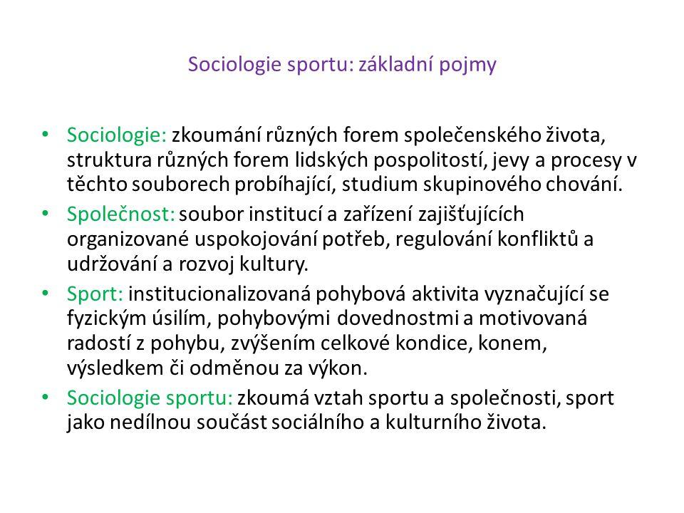 Sport a média: komercionalizace sportu Komercionalizace sportu: 1.