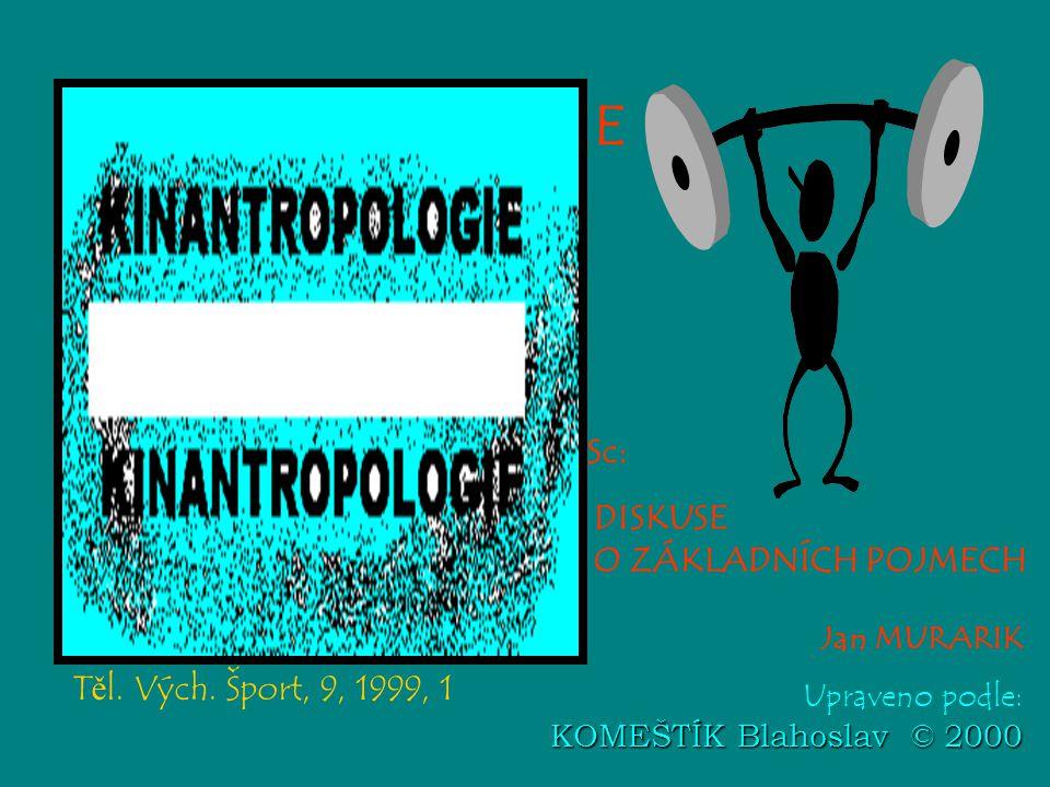 Jan MURARIK KOMEŠTÍK Blahoslav © 2000 Upraveno podle: KOMEŠTÍK Blahoslav © 2000 DISKUSE O ZÁKLADNÍCH POJMECH T ě l. Vých. Šport, 9, 1999, 1 KINANTROPO