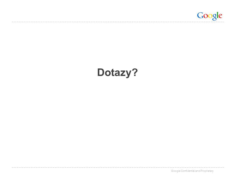 Google Confidential and Proprietary Dotazy?