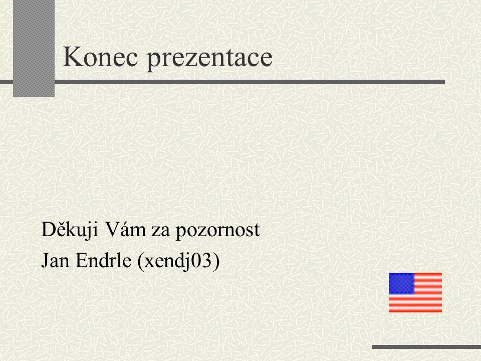 Konec prezentace Děkuji Vám za pozornost Jan Endrle (xendj03)