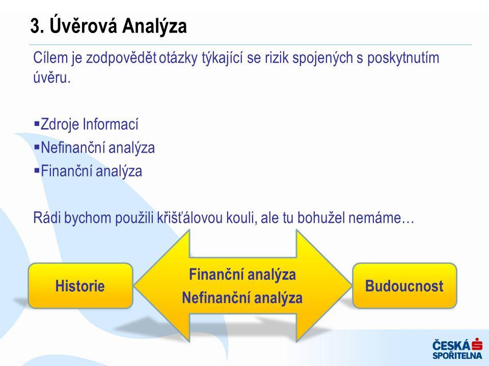 Cílem je zodpovědět otázky týkající se rizik spojených s poskytnutím úvěru.  Zdroje Informací  Nefinanční analýza  Finanční analýza Rádi bychom pou