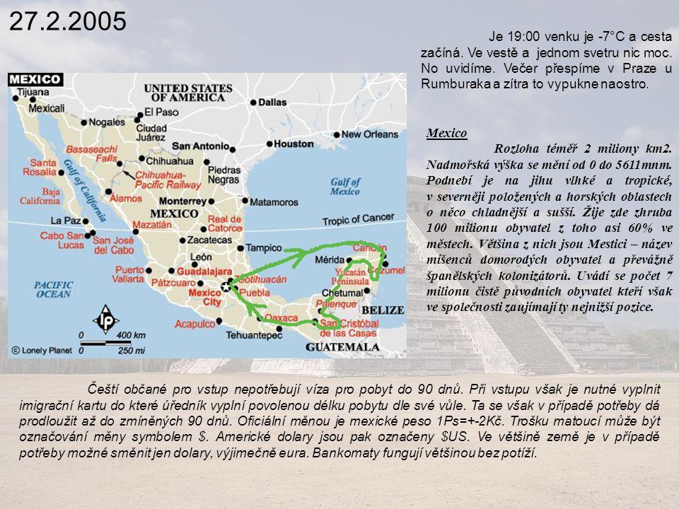 14.3.2005 Cesta která byla až sem asfaltová je teď po lávovém prachu.