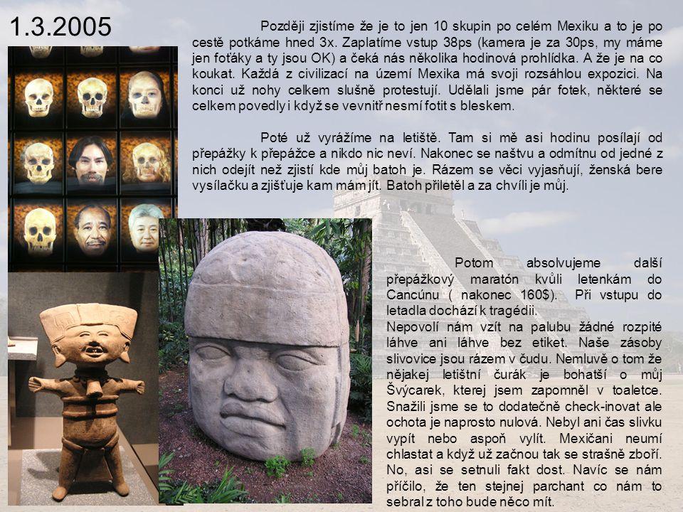 9.3.2005 Lagos de montebello V oblasti Lagos de Montebello na guatemalských hranicích jsou dva parky.