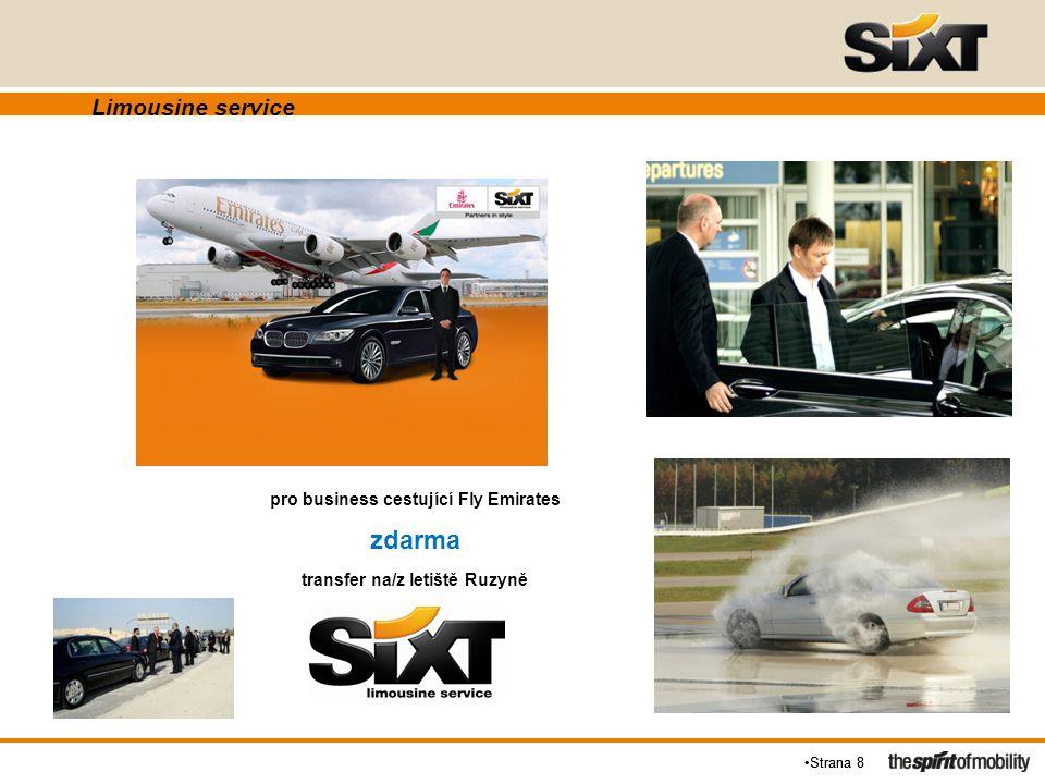 Strana 8 Limousine service pro business cestující Fly Emirates zdarma transfer na/z letiště Ruzyně