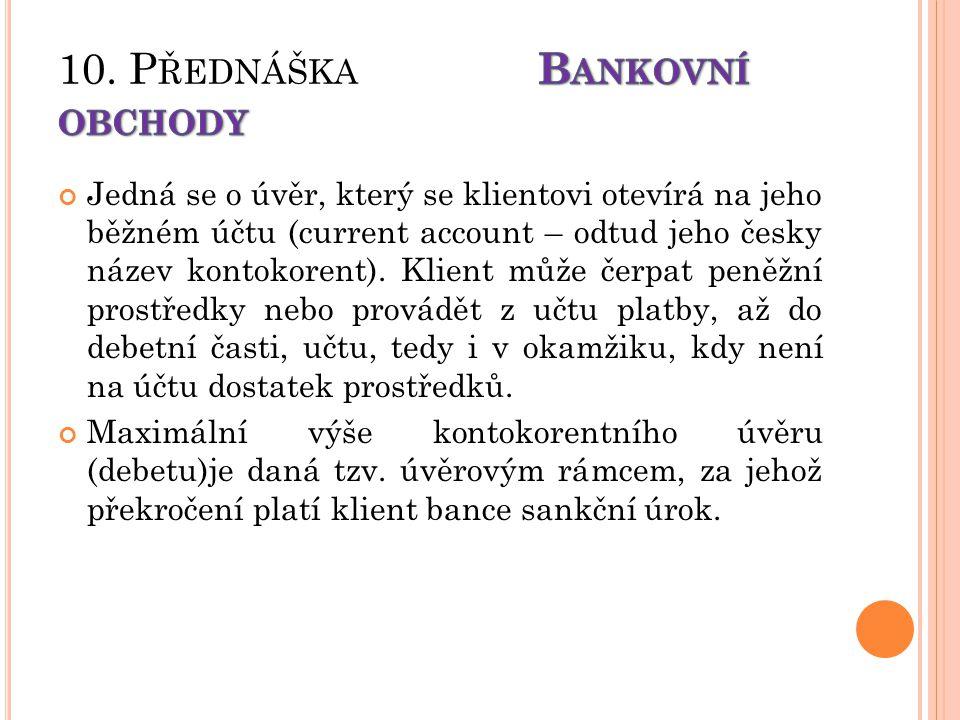Jedná se o úvěr, který se klientovi otevírá na jeho běžném účtu (current account – odtud jeho česky název kontokorent).
