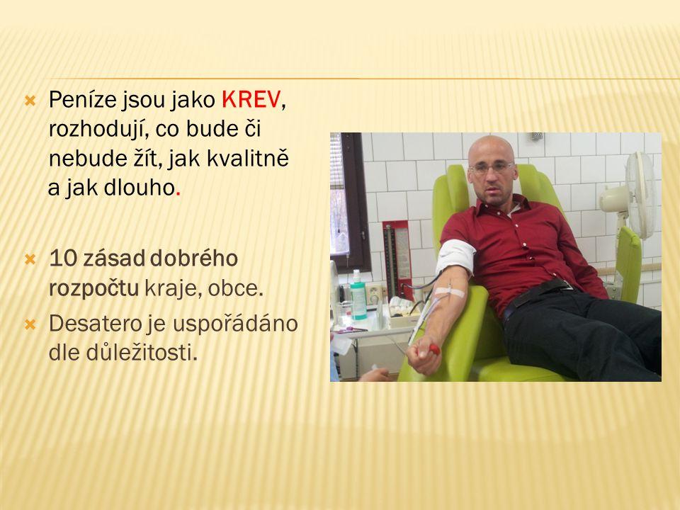  Peníze jsou jako KREV, rozhodují, co bude či nebude žít, jak kvalitně a jak dlouho.
