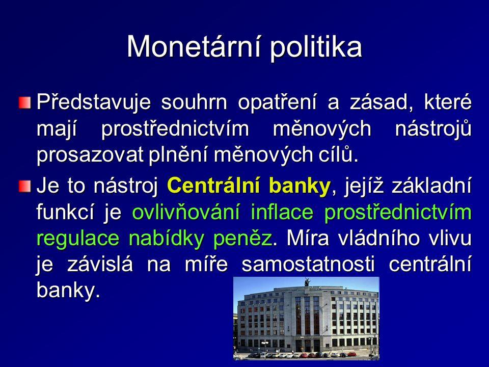 Konverze a swapy cizích měn – CB nakupuje a prodává cizí měny bankám, 2 podoby: –Promptní obchod bez následných zpětných operací (konverze) – prodej (nákup) v aktuálním kurzu; –Swap – prodej (nákup) za aktuální kurz a zároveň je uzavírána smlouva o budoucím zpětném odkupu (prodeji) za předem dohodnutý kurz.