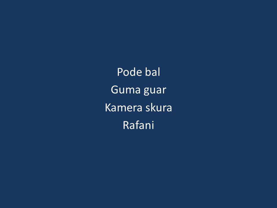 Pode bal Guma guar Kamera skura Rafani