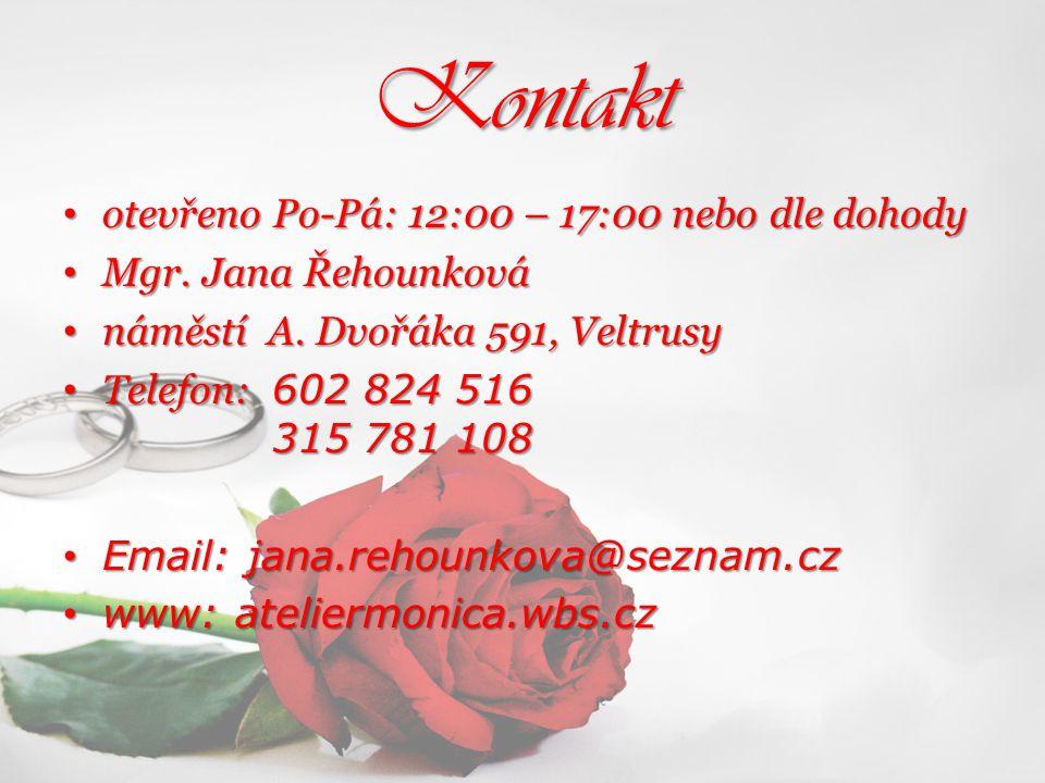 Kontakt otevřeno Po-Pá: 12:00 – 17:00 nebo dle dohody otevřeno Po-Pá: 12:00 – 17:00 nebo dle dohody Mgr. Jana Řehounková Mgr. Jana Řehounková náměstí