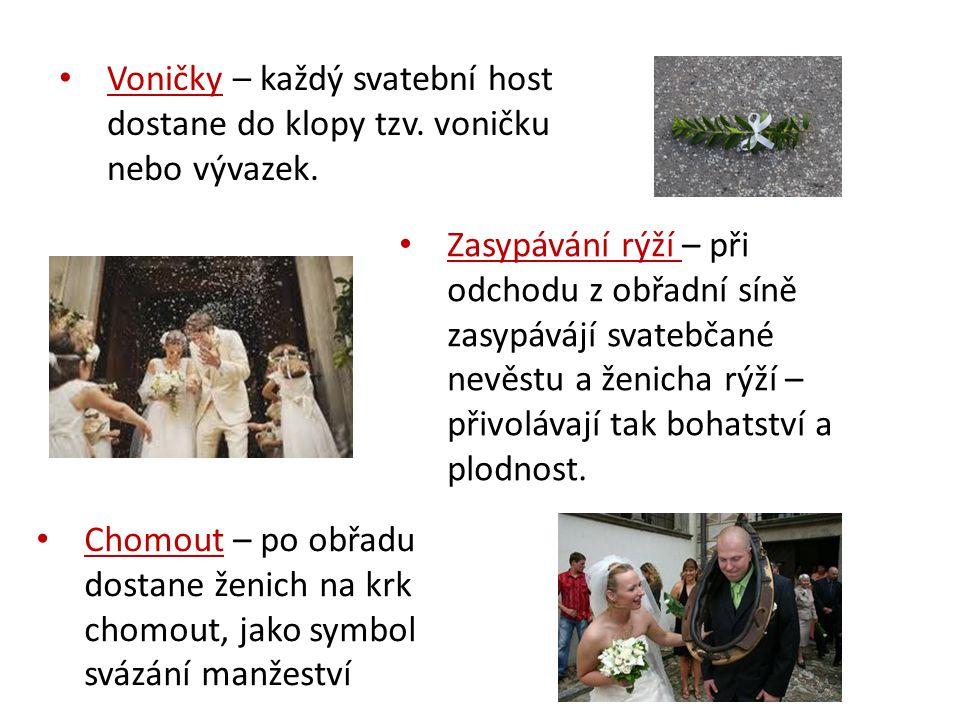 Voničky – každý svatební host dostane do klopy tzv.