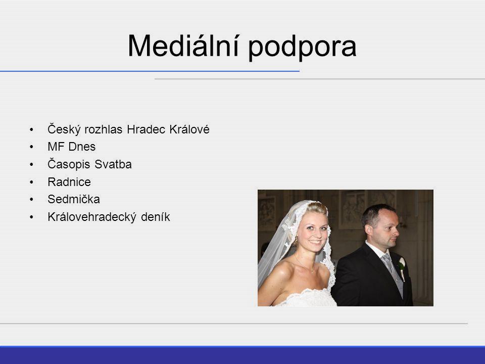 Mediální podpora Český rozhlas Hradec Králové MF Dnes Časopis Svatba Radnice Sedmička Královehradecký deník