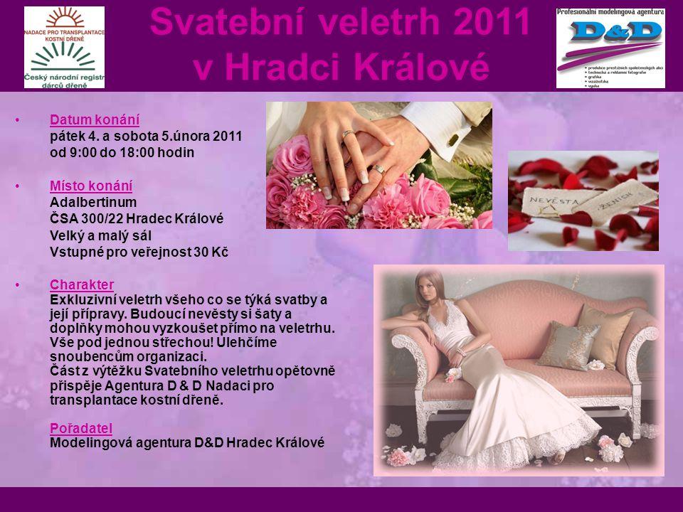 Datum konání pátek 4. a sobota 5.února 2011 od 9:00 do 18:00 hodin Místo konání Adalbertinum ČSA 300/22 Hradec Králové Velký a malý sál Vstupné pro ve
