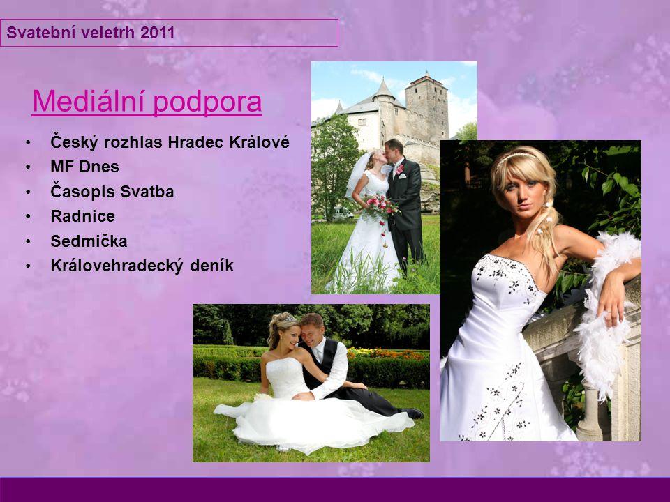 Mediální podpora Český rozhlas Hradec Králové MF Dnes Časopis Svatba Radnice Sedmička Královehradecký deník Svatební veletrh 2011