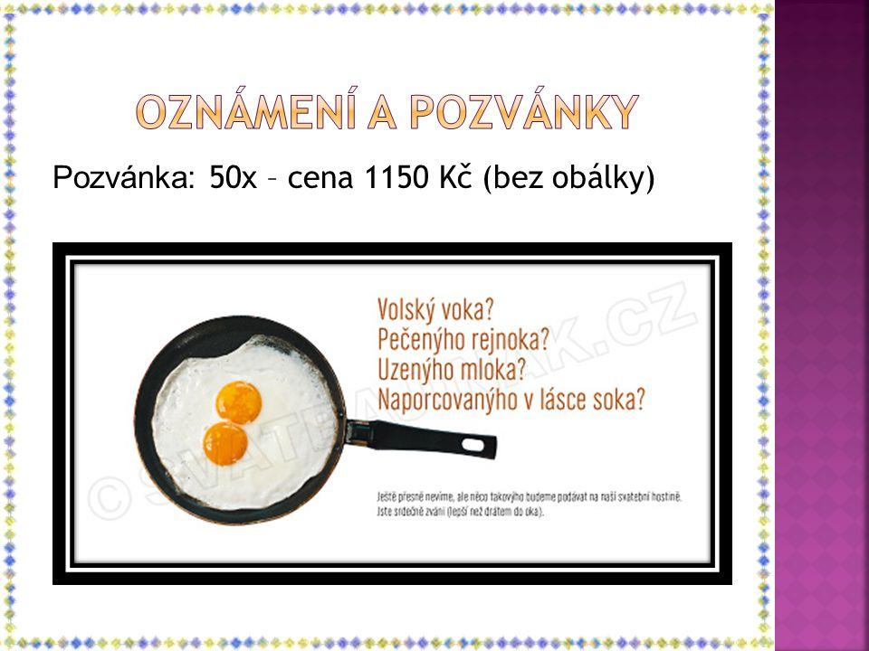 Pozvánka: 50x – cena 1150 Kč (bez obálky)