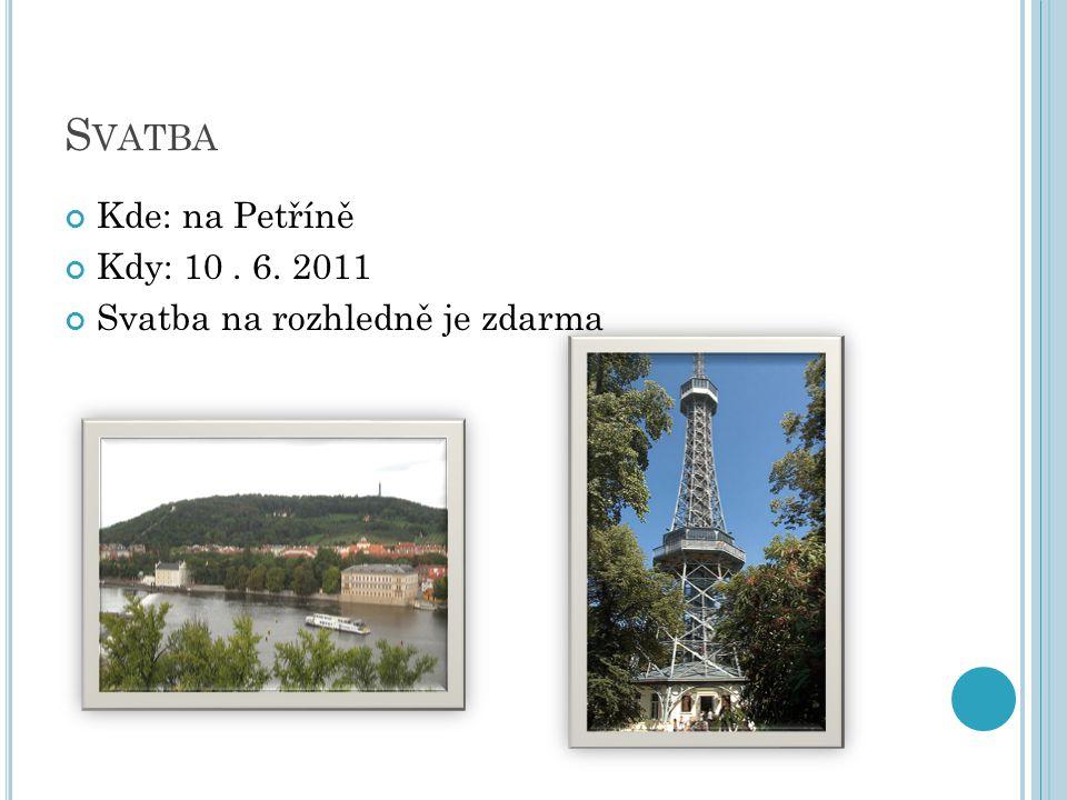 S VATBA Kde: na Petříně Kdy: 10. 6. 2011 Svatba na rozhledně je zdarma