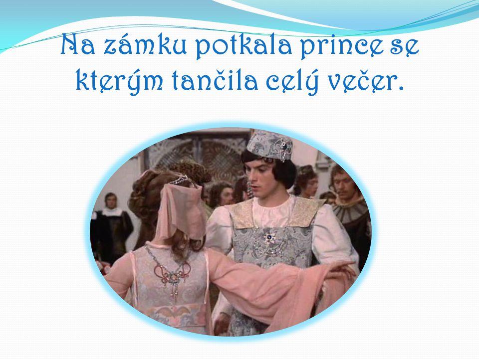 Na zámku potkala prince se kterým tan č ila celý ve č er.