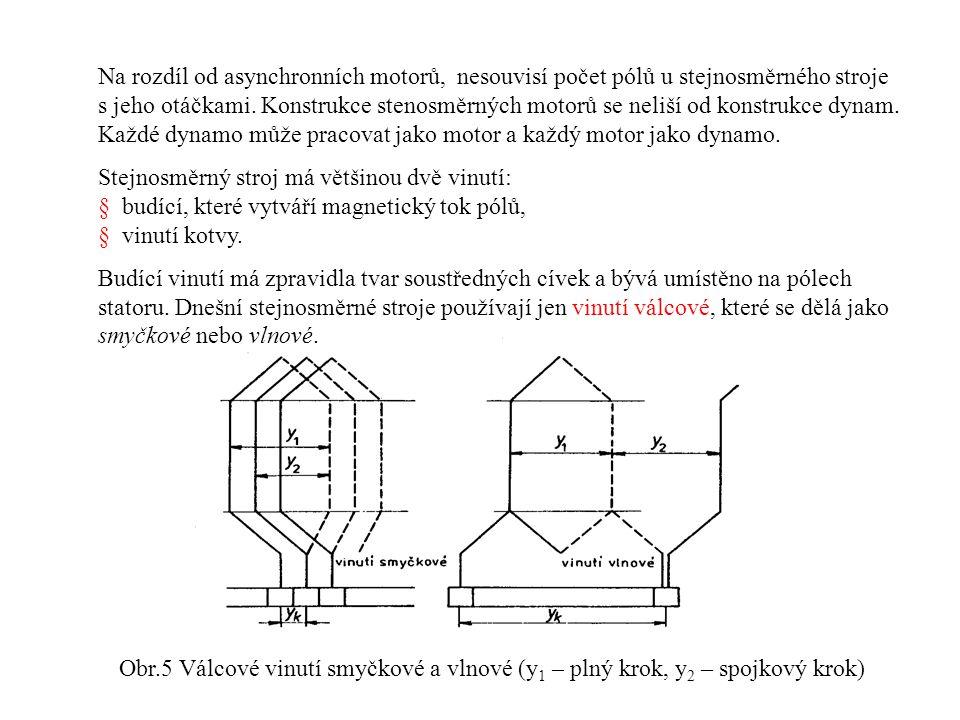 Na rozdíl od asynchronních motorů, nesouvisí počet pólů u stejnosměrného stroje s jeho otáčkami.