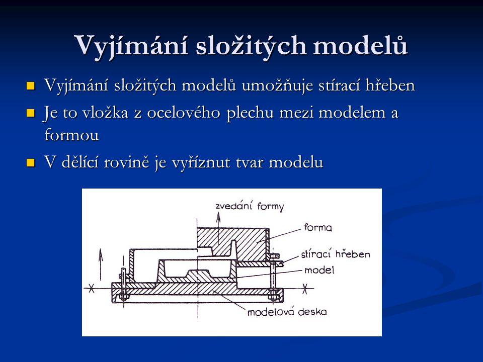 Vyjímání složitých modelů Vyjímání složitých modelů umožňuje stírací hřeben Vyjímání složitých modelů umožňuje stírací hřeben Je to vložka z ocelového